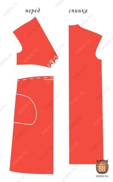 Красное платье - выкройка
