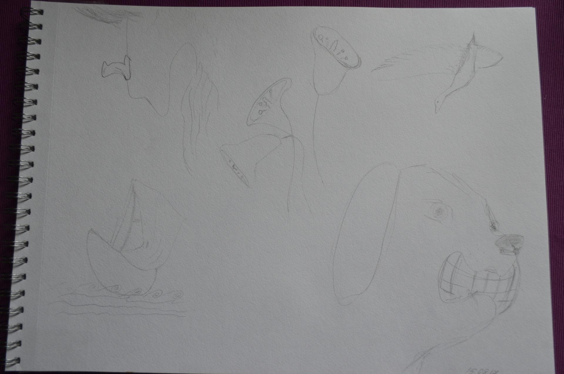 Каляки-маляки превратились в элегантные рисунки